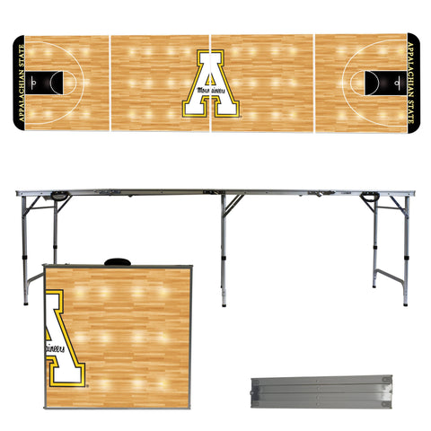 Appalachian State Mountaineers 8 Foot Long Basketball Court Version Portable Tailgating and Pong Table