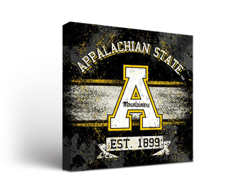 Appalachian State Mountaineers Man Cave wall art - Banner Design