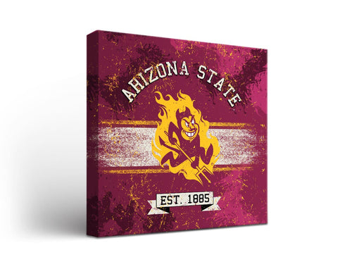 Arizona State Sun Devils Man Cave wall art - Banner Design