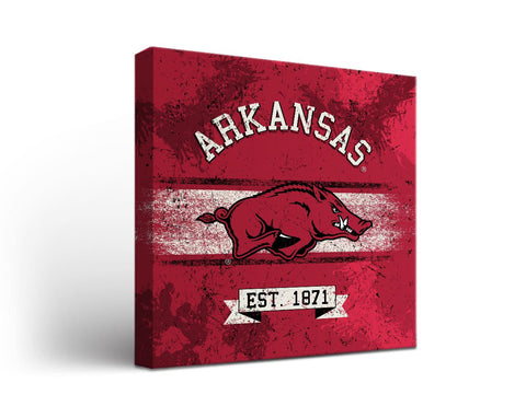 University of Arkansas Razorbacks Man Cave wall art - Banner Design
