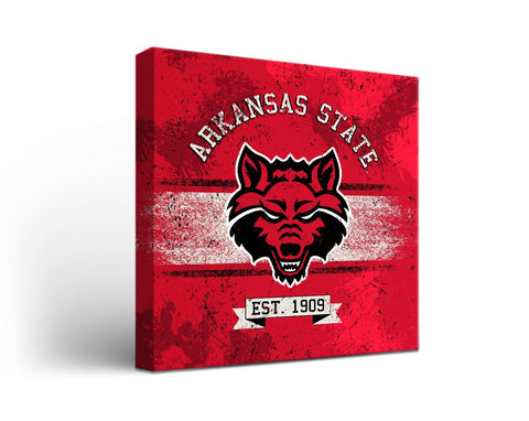 Arkansas State Red Wolves Man Cave wall art - Banner Design