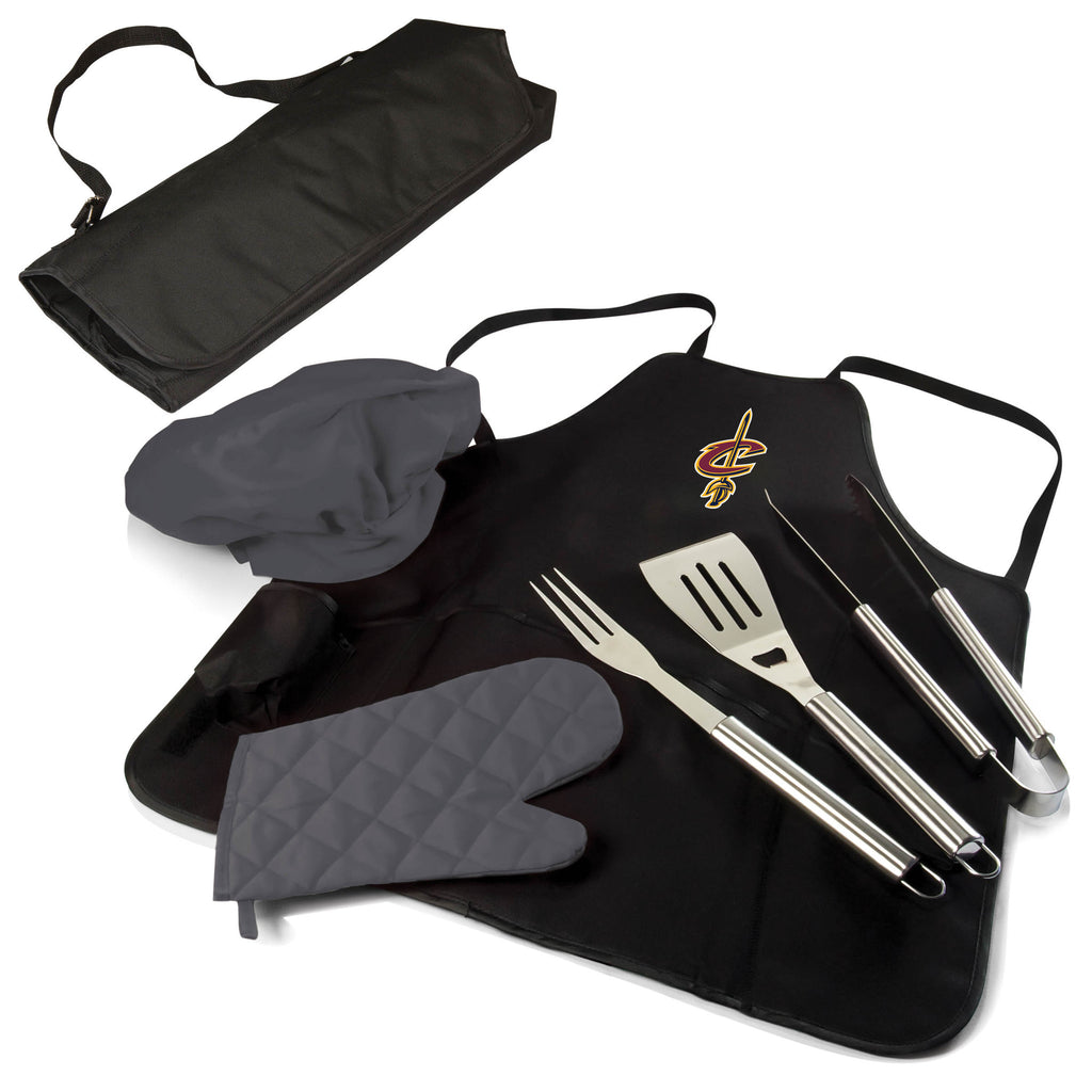 The Cleveland Cavaliers BBQ Apron and Grill Tool Set