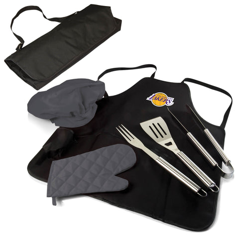 The Los Angeles Lakers BBQ Apron and Grill Tool Set