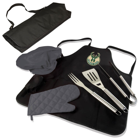 The Minnesota Timberwolves BBQ Apron and Grill Tool Set