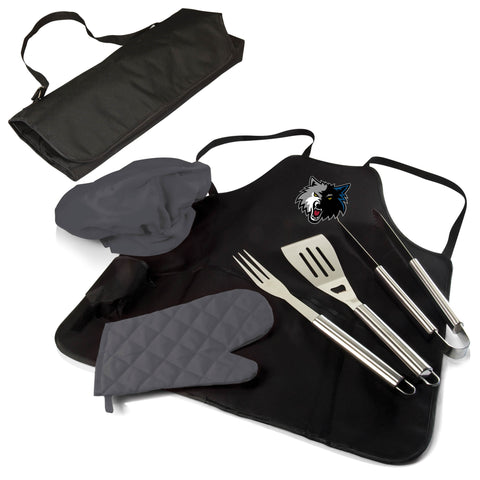 The New Orleans Pelicans BBQ Apron and Grill Tool Set