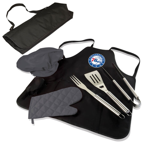 The Phoenix Suns BBQ Apron and Grill Tool Set