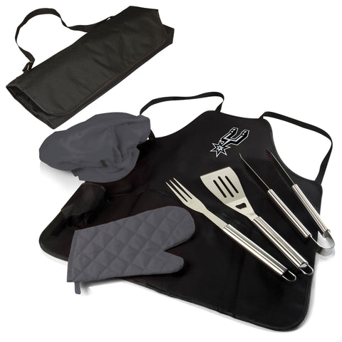 The Toronto Raptors BBQ Apron and Grill Tool Set