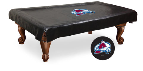 The Colorado Avalanche 9' Pool Table Cover - Holland Bar BCV9ColAva