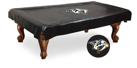 The Nashville Predators 9' Pool Table Cover - Holland Bar BCV9NshPre