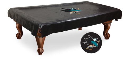 The San Jose Sharks 9' Pool Table Cover - Holland Bar BCV9SJShar