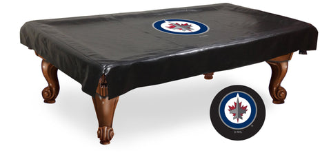 The Winnipeg Jets 9' Pool Table Cover - Holland Bar BCV9WinJet