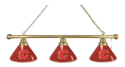 Calgary Flames 3 Shade Billiard Light