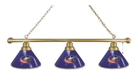 Columbus Blue Jackets 3 Shade Billiard Light
