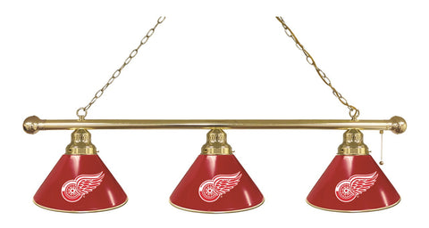 Detroit Red Wings 3 Shade Billiard Light