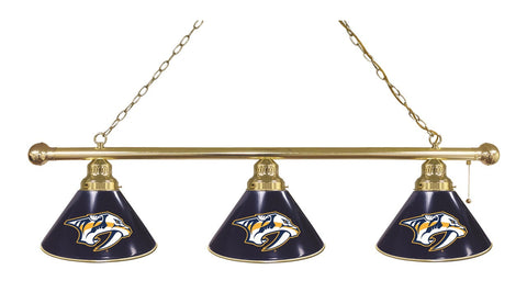 Nashville Predators 3 Shade Billiard Light