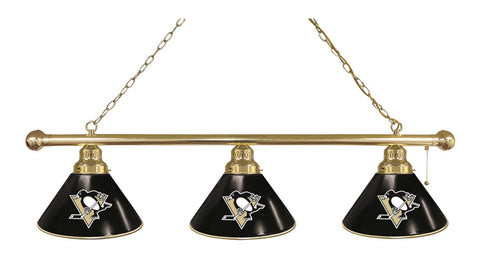 Pittsburgh Penguins 3 Shade Billiard Light