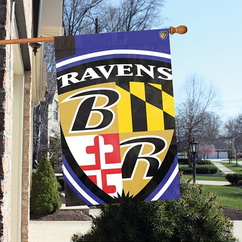 The Baltimore Ravens Logo Bold Flag by Party Animal - BLBA