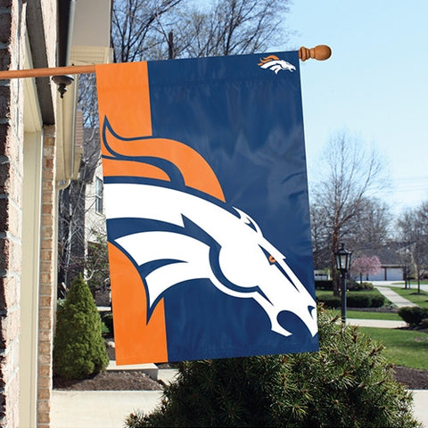 The Denver Broncos Logo Bold Flag by Party Animal - BLDB