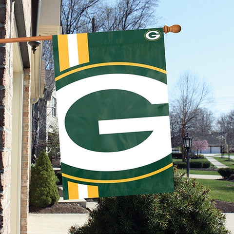 The Green Bay Packers Logo Bold Flag by Party Animal - BLGB