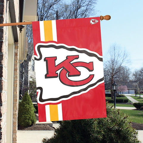 The Kansas City Chiefs Logo Bold Flag by Party Animal - BLKC