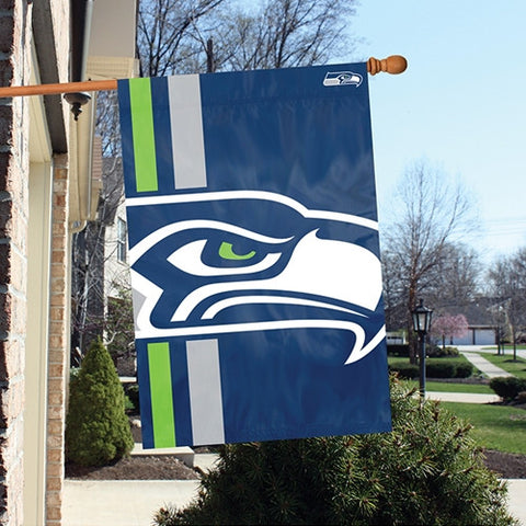 The Seattle Seahawks Logo Bold Flag by Party Animal - BLSE