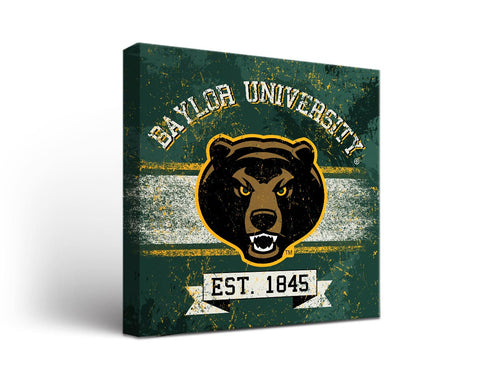 Baylor University Bears Man Cave wall art - Banner Design