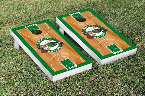 Boston Celtics NBA Cornhole Game Set Basketball Court Version - Victory Tailgate 28514