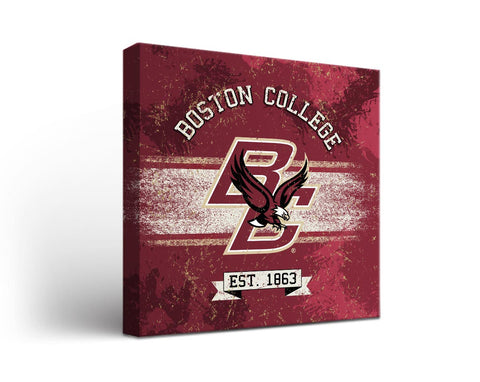 Boston College Eagles Man Cave wall art - Banner Design