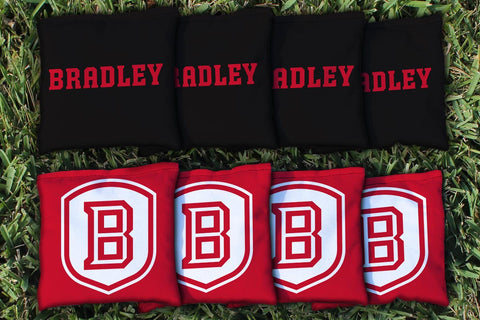 Bradley Braves Cornhole Bag Replacement Set (Corn Filled)