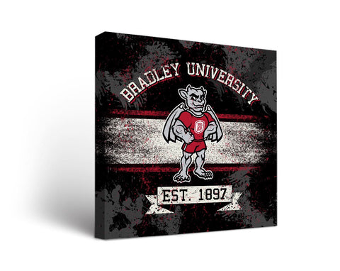 Bradley University Braves Man Cave wall art - Banner Design