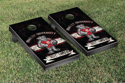 Bradley Braves Cornhole Game Set Banner Version - Victory Tailgate 33295
