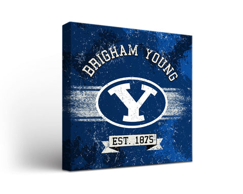 Brigham Young Cougars Man Cave wall art - Banner Design