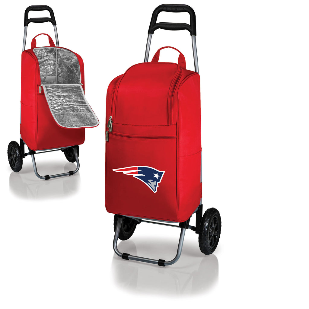 New England Patriots Cooler Cart wheeled cooling keep beer cool