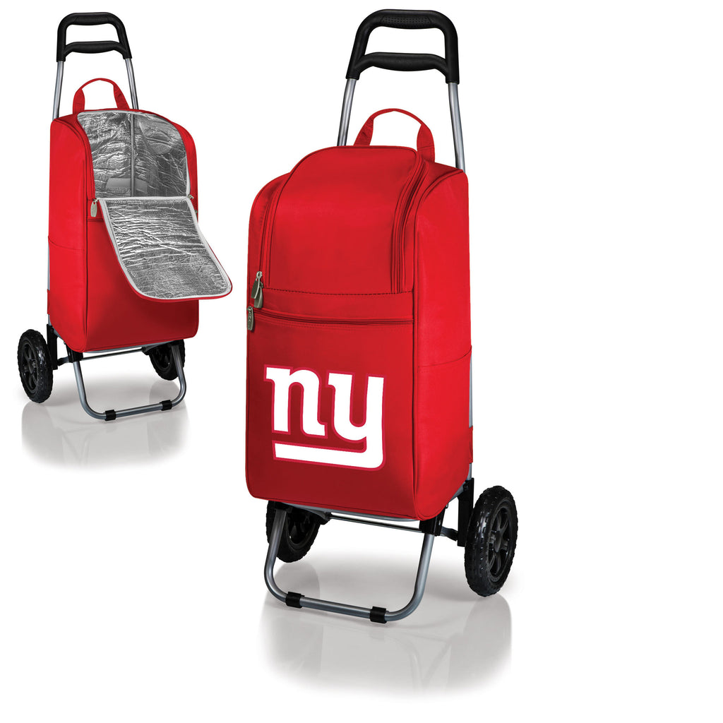 New York Giants Cooler Cart wheeled cooling keep beer cool