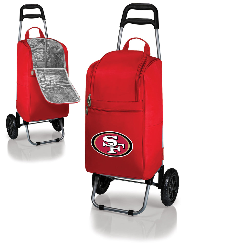 San Francisco 49ers Cooler Cart wheeled cooling keep beer cool