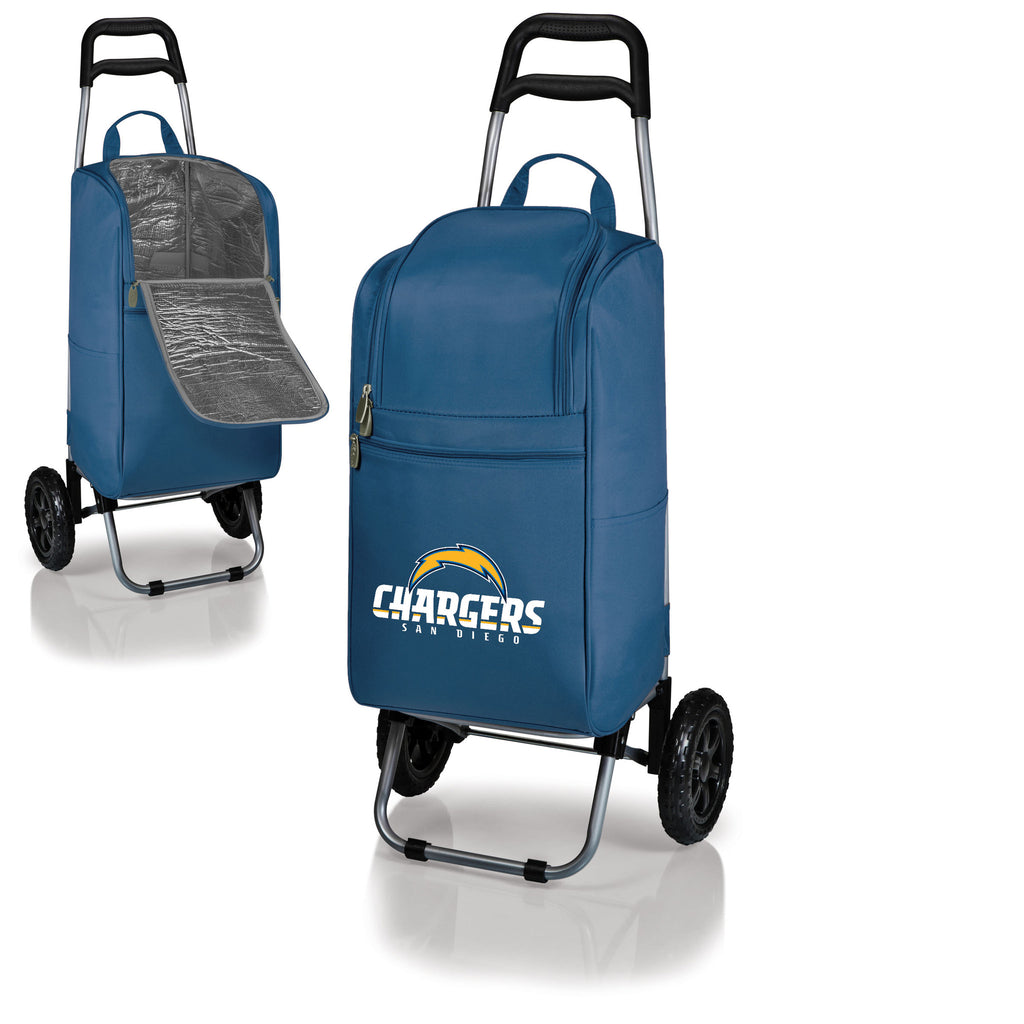 San Diego Chargers Cooler Cart wheeled cooling keep beer cool