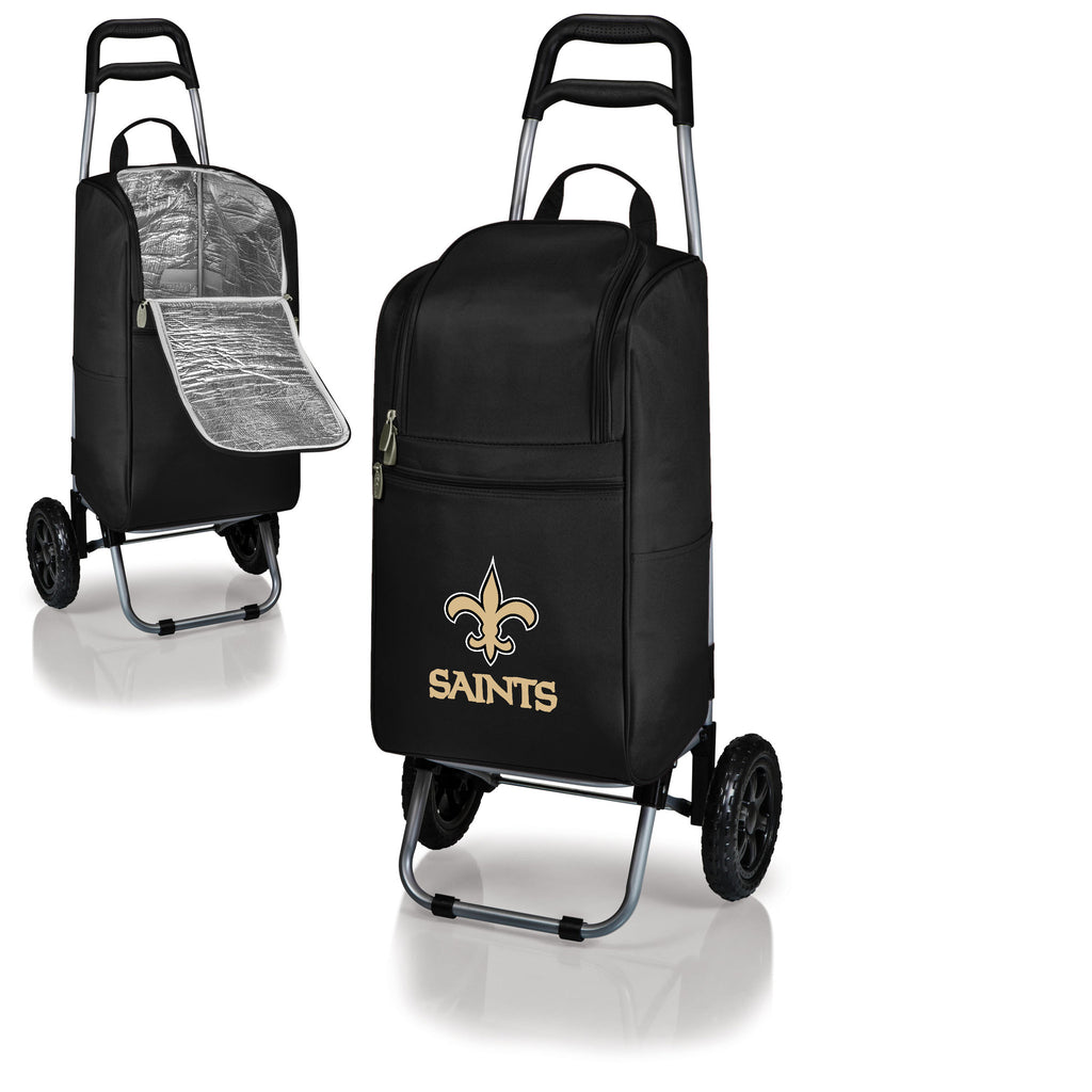 New Orleans Saints Cooler Cart wheeled cooling keep beer cool