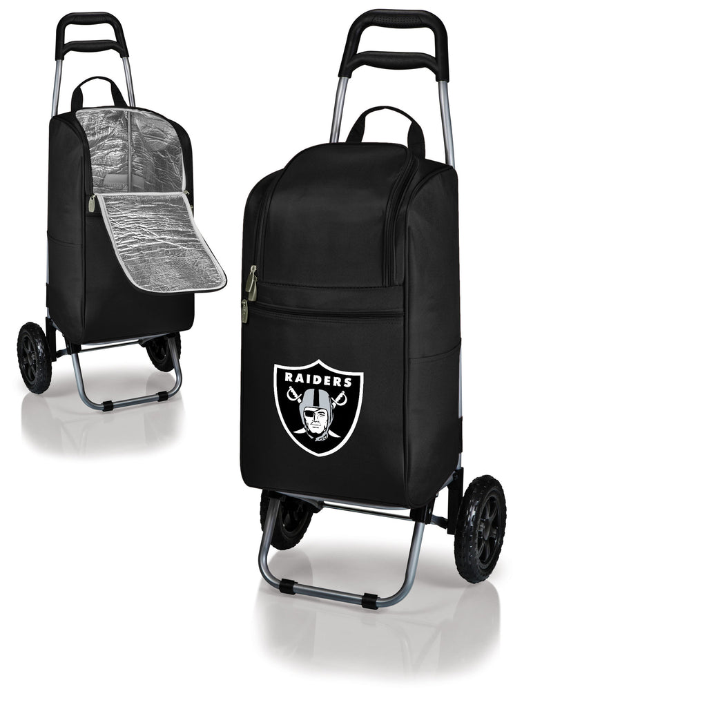 Oakland Raiders Cooler Cart wheeled cooling keep beer cool