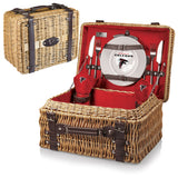 The Atlanta Falcons Champion Picnic Basket with picnicking service for two