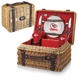 The Kansas City Chiefs Champion Picnic Basket with picnicking service for two