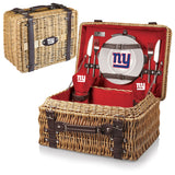 The New York Giants Champion Picnic Basket with picnicking service for two