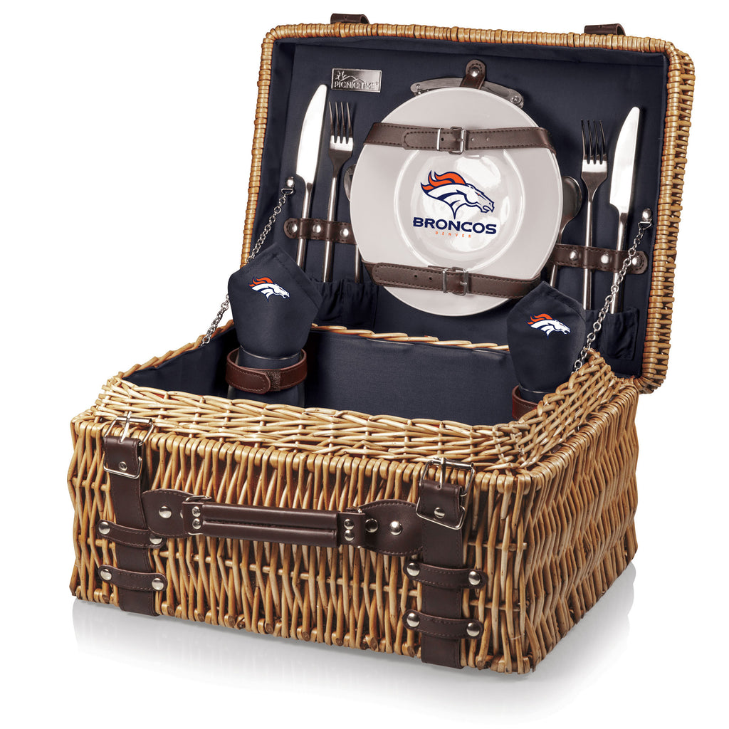 The Denver Broncos Champion Basket Picnic Time 208-40-138-104-2
