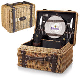 The Minnesota Vikings Champion Picnic Basket with picnicking service for two