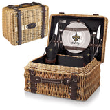 The New Orleans Saints Champion Picnic Basket with picnicking service for two