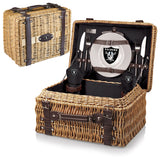 The Oakland Raiders Champion Picnic Basket with picnicking service for two