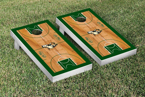 Cal Poly Mustangs Cornhole Game Set Basketball Court Version - Victory Tailgate 22946