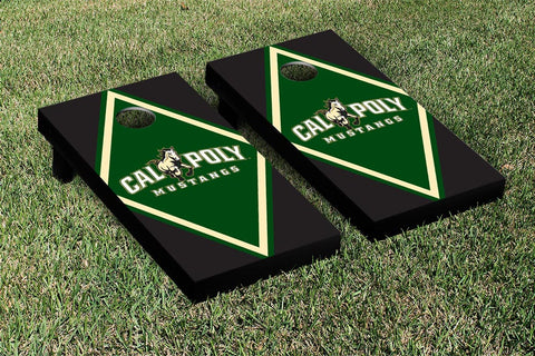 Cal Poly Mustangs Cornhole Game Set Diamond Version - Victory Tailgate 15460