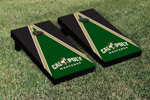 Cal Poly Mustangs Cornhole Game Set Triangle Version - Victory Tailgate 15458
