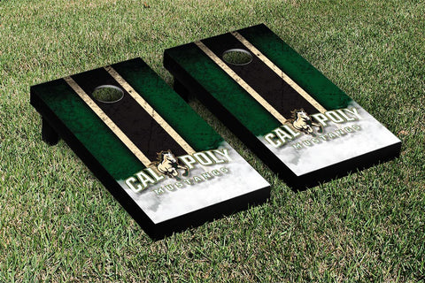 Cal Poly Mustangs Cornhole Game Set Vintage Version - Victory Tailgate 15457