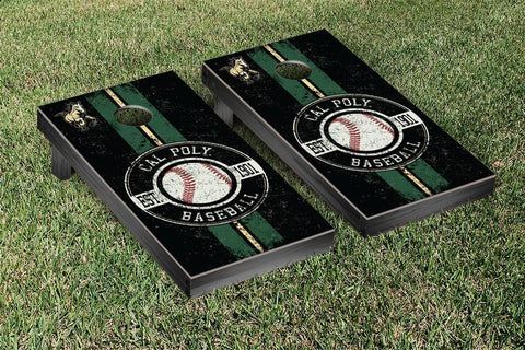 Cal Poly Mustangs Cornhole Game Set Baseball Vintage Version - Victory Tailgate 32985
